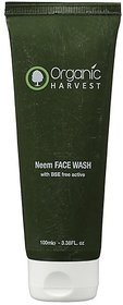 Organic Harvests Neem Face Wash with bse free actives 100g