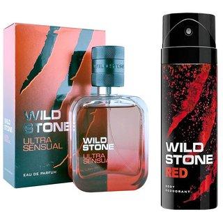 Wild Stone Ultra Sensual Perfume 50ml And Red Deodorant 150ml