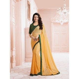 Buy Samarth Fab Yellow Color Silk Festive Wear Party Wear Casual