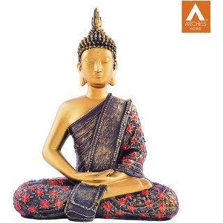 Archies Dhyana Mudra Multicolored polyresin decor standing Buddha showpiece