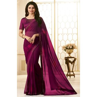 0c2d87702fddc1 Samarth Fab Purple Color Silk Festive Wear Party Wear Casual Wear Wedding  Wear Mix Match Lace