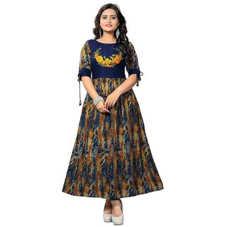 VAIKUNTH FABRICS Printed Kurti in Multicolor color and Rayon fabric for womens (VF-KU-137)