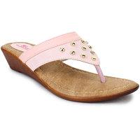 Picktoes Women's Gold Wedge Heels
