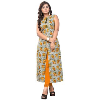 VAIKUNTH FABRICS printed Kurti in Multicolor color and Cotton fabric for womens (VF-KU-147)
