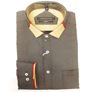 Men's Cotton Casual & Formal full Sleeves Shirts With Checked Design_KDST-16_M