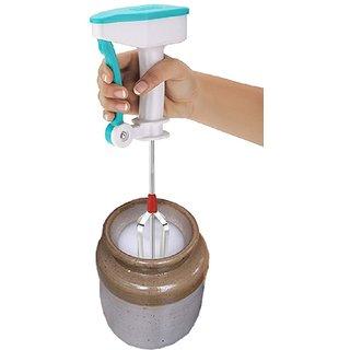 MB tyle Kitchenworld  Stainless Stee Egg Beater Lassi / Butter Milk Maker / Mixer Hand Blender(MultiColor) In Best Price