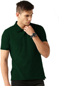 Van Galis Dark Green Polo Tshirt For Men's