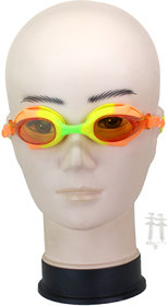 Neska Moda Kids AntiFog UV Protected Multicolor Swimming Kit With Earplugs