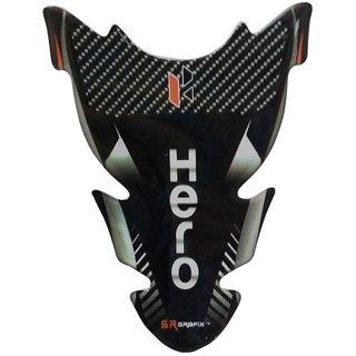 Hero Bike Black Universal Customize Vinyl Tank Pad Sticker