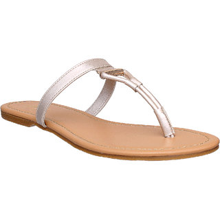 Flora Comfort Cream Flat Sandal For Women