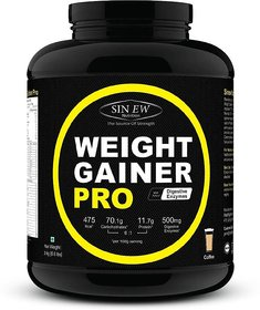 Sinew Weight Gainer Pro With Digestive Enzymes, Coffee, - 139431213
