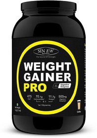Sinew Weight Gainer Pro With Digestive Enzymes, Coffee, - 139431215