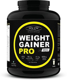 Sinew Weight Gainer Pro With Digestive Enzymes, Vanilla
