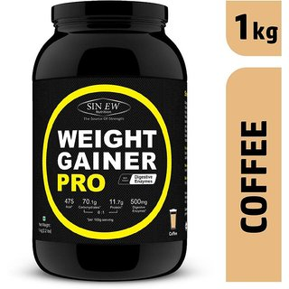 Sinew Weight Gainer Pro with Digestive Enzymes, Coffee, 1Kg