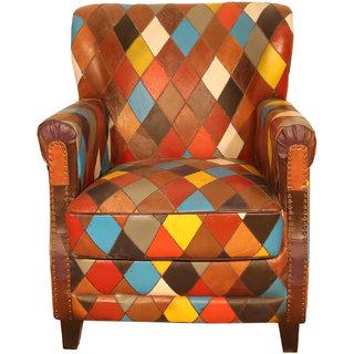 Buy Ganesh Handicrafts Multicolor Wooden Leather Canvas Single
