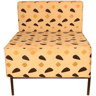 Ganesh Handicrafts Multicolor Wooden & Fabric Single Seater Sofa