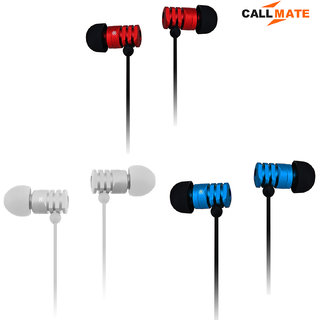 Callmate GD500 Rubberized 32 ohms Earphone With Mic Assorted Color