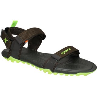 Sparx Men SS-468 Olive Fluorescent Green Sandals