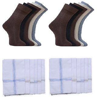 Combo of 10 Socks and 12 Handkerchiefs - ksocks10hanky12