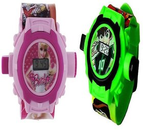 Barbie With Ben 10  Digital Pink And Green Projector 24