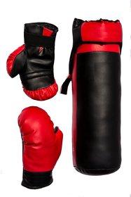 Mummy Brands Boxing Kit Kids Red  Black (Punching Bag,Pair of Gloves  Head guard)