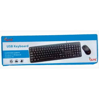 Wired Keyboard Mouse Combo Combo Set BY ALIVE