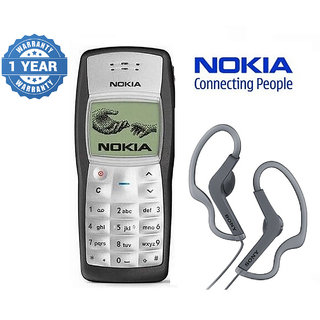 Nokia 1100 / Good Condition/ Certified Pre Owned (1 Year Warranty) With Sony Earphone