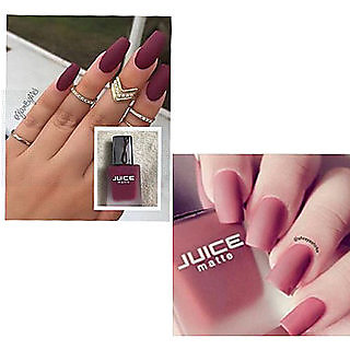 Set Of 2 Juice Matte Lovely Nail Paint Shade