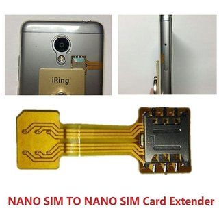 Hybrid Double Dual SIM Card Micro SD Adapter For Using 2 Sim and Memory Card