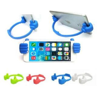 Vin New Universal Thumb OK Mobile Phone Tablet Car Desk Table Top Mount  Stand Holder(Assorted Color)