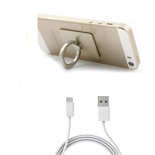 Combo of Ring + Micro USB Cable (Assorted Colors)