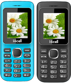 HICELL C5 (COMBO OF TWO MOBILE BLUE , BLACK) DUAL SIM,