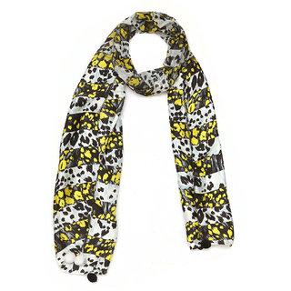 Grishti Printed Casual Yellow Womens Stole