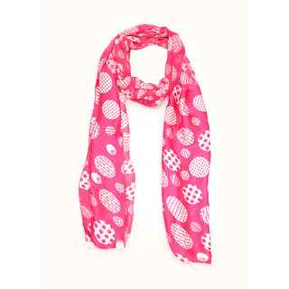Grishti Printed Casual Pink Womens Stole