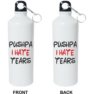 Crazy Sutra Classic Printed School SPECIAL Bottles ( 600ml) Sipper-PushpaIHateTearsW