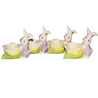 JADES Multicolor Resin Material Rabbit Shape Kitchen Dcor Egg Holder