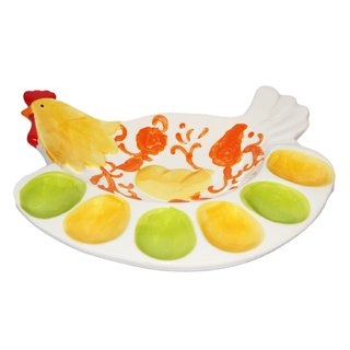 JADES Multicolor Resin Material Chicken Shape Kitchen Dcor Egg Holder