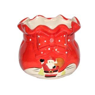 JADES Red Ceramic Material Round Shape Kitchen Dcor Bowl Sets (500ml)