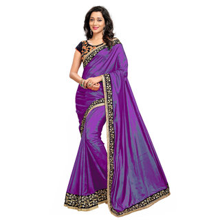 643f2e497d98bd Buy Purple Paper Silk Saree With Embroidery Blouse Pieces Online ...