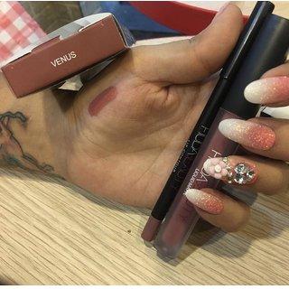 HUDA BEAUTY Lipgloss Lipstick + 1 Lip Liner