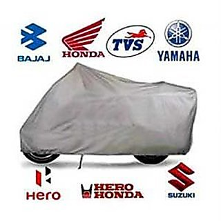 Autoplus Water Proof Bike Body Cover -universal Motorcycle Cover Super (Silvr)