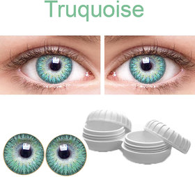 TruOm Turquise Colour Monthly(Zero Power) Contact Lens