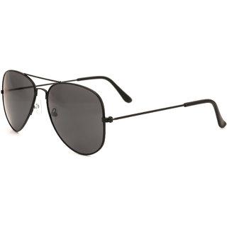 Bluez 0152 Black Unisex Aviator Sunglasses