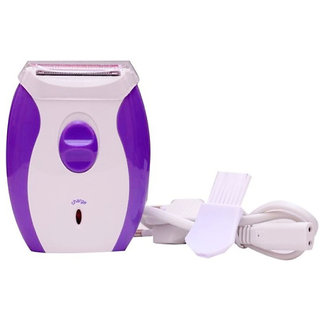 2 in 1 Epilator for Women - Shaver and Trimmer in One - Full Body Women Beauty Styler - Kemei KM 280R (Purple and White)