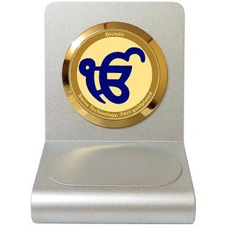24ct Gold Encased Ek Omkar Car Dashboard Frame By Diviniti.