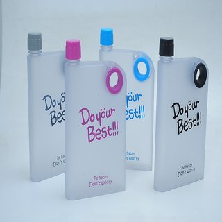 03160ad0cc NOTEBOOK STYLE ULTRA SLIM WATER BOTTLE, DO YOUR BEST MEMO BOTTLE 380ML -  Assorted