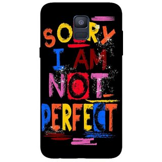 Back Cover for Samsung A6 (Multicolor, Flexible Case)