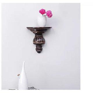 Onlineshoppee Home Decor Premium Solid Wood Shelf Rack Wall Bracket Wall Rack