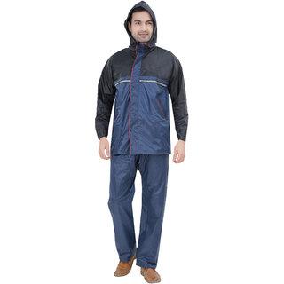 Abc Garments Black Blue Raincoat For Mens