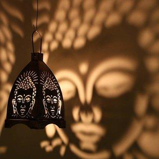 Crazy Sutra Iron Buddha Hanging Black